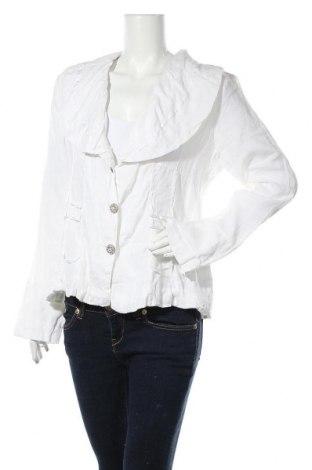 Дамско сако Nile, Размер L, Цвят Бял, 100% лен, Цена 39,27лв.