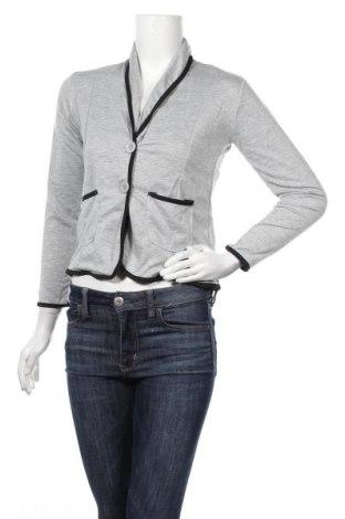 Дамско сако Pretty Winter, Размер XS, Цвят Сив, 65% полиестер, 35% памук, Цена 22,77лв.