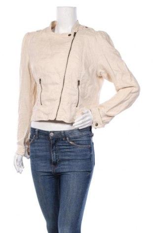Дамско яке H&M, Размер XL, Цвят Екрю, 100% лен, Цена 26,46лв.