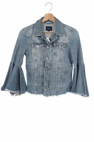 Γυναικείο μπουφάν Pepe Jeans, Μέγεθος S, Χρώμα Μπλέ, 65% πολυεστέρας, 35% βαμβάκι, Τιμή 26,45€