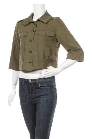 Дамско яке Sisley, Размер L, Цвят Зелен, 92% полиестер, 8% полиакрил, Цена 7,97лв.