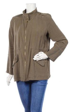 Дамско яке Zara, Размер L, Цвят Зелен, Цена 10,92лв.
