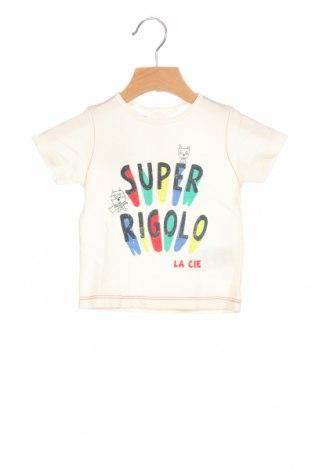 Παιδικό μπλουζάκι La Compagnie des Petits, Μέγεθος 9-12m/ 74-80 εκ., Χρώμα Λευκό, Βαμβάκι, Τιμή 5,68€