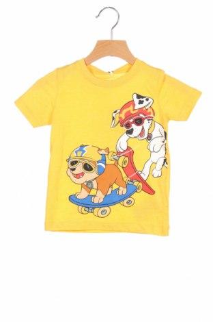 Παιδικό μπλουζάκι Name It, Μέγεθος 12-18m/ 80-86 εκ., Χρώμα Κίτρινο, 65% πολυεστέρας, 35% βαμβάκι, Τιμή 6,27€