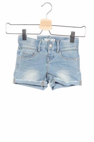 Παιδικό κοντό παντελόνι Name It, Μέγεθος 3-4y/ 104-110 εκ., Χρώμα Μπλέ, 65% βαμβάκι, 22% πολυεστέρας, 12% βισκόζη, 1% ελαστάνη, Τιμή 7,98€