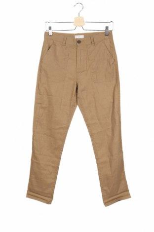 Pantaloni pentru copii Mango, Mărime 13-14y/ 164-168 cm, Culoare Bej, 55% in, 45% bumbac, Preț 42,76 Lei