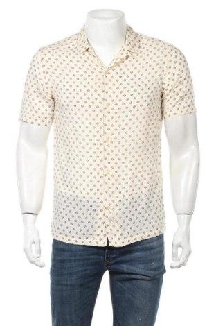 Ανδρικό πουκάμισο AllSaints, Μέγεθος S, Χρώμα Εκρού, Βισκόζη, Τιμή 41,02€