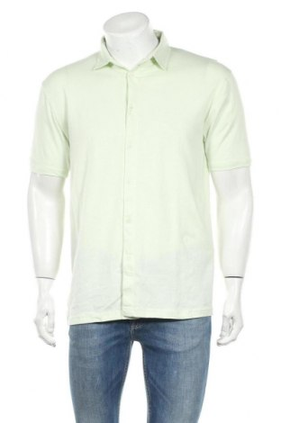 Ανδρικό πουκάμισο Boohoo, Μέγεθος L, Χρώμα Πράσινο, 94% βαμβάκι, 6% ελαστάνη, Τιμή 7,22€