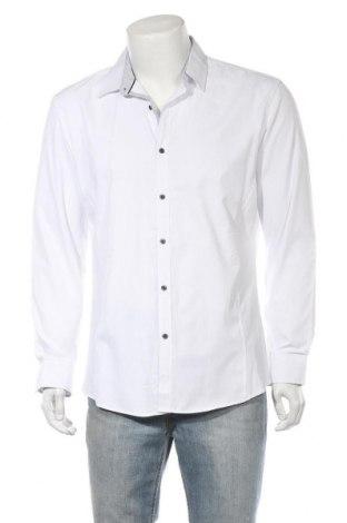 Ανδρικό πουκάμισο Connor, Μέγεθος L, Χρώμα Λευκό, 60% πολυεστέρας, 40% βαμβάκι, Τιμή 8,64€