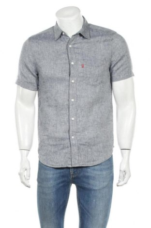 Мъжка риза Levi's, Размер S, Цвят Сив, 55% лен, 45% лиосел, Цена 59,40лв.