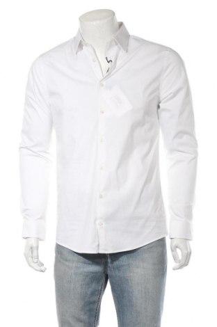 Ανδρικό πουκάμισο Tiger Of Sweden, Μέγεθος M, Χρώμα Λευκό, 66% βαμβάκι, 30% πολυαμίδη, 4% ελαστάνη, Τιμή 36,57€