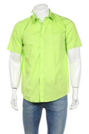 Ανδρικό πουκάμισο Trutex, Μέγεθος M, Χρώμα Πράσινο, 65% πολυεστέρας, 35% βαμβάκι, Τιμή 5,78€