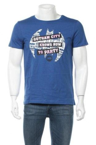 Ανδρικό t-shirt Batman, Μέγεθος M, Χρώμα Μπλέ, Βαμβάκι, Τιμή 11,92€
