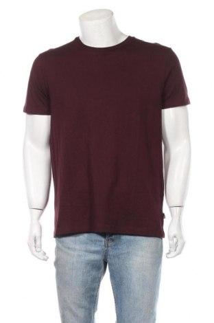 Мъжка тениска Burton of London, Размер L, Цвят Червен, 100% памук, Цена 24,70лв.