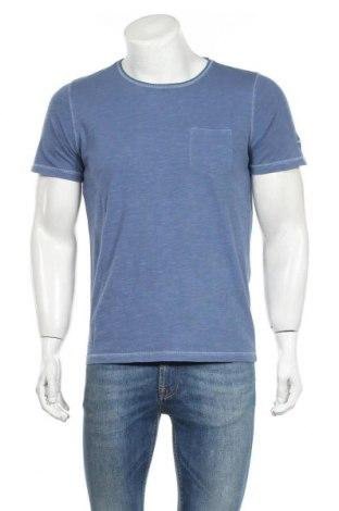 Ανδρικό t-shirt Camel Active, Μέγεθος S, Χρώμα Μπλέ, Βαμβάκι, Τιμή 23,09€