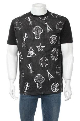 Мъжка тениска Eleven Paris, Размер L, Цвят Черен, Памук, Цена 24,15лв.