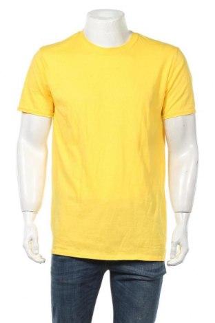 Мъжка тениска Gildan, Размер L, Цвят Жълт, Памук, Цена 12,50лв.