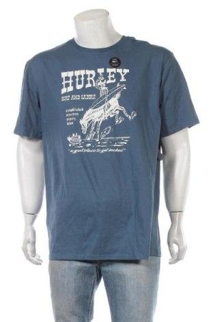 Мъжка тениска Hurley, Размер XL, Цвят Син, Памук, Цена 46,80лв.
