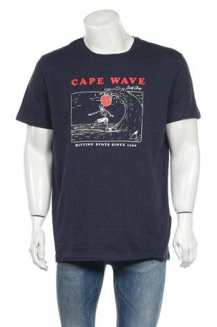 Ανδρικό t-shirt Originals By Jack & Jones, Μέγεθος XL, Χρώμα Μπλέ, Βαμβάκι, Τιμή 13,61€
