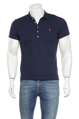 Мъжка тениска Polo By Ralph Lauren, Размер M, Цвят Син, 97% памук, 3% еластан, Цена 71,10лв.