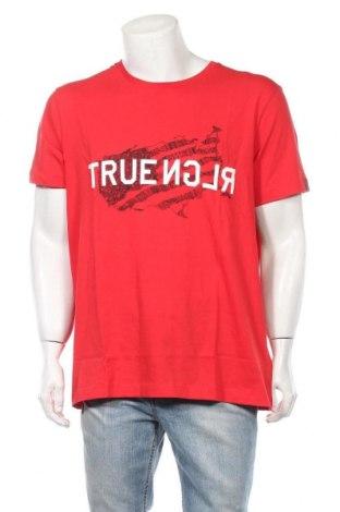 Мъжка тениска True Religion, Размер XXL, Цвят Червен, Памук, Цена 37,92лв.