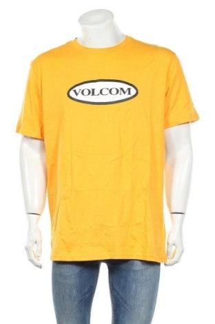 Ανδρικό t-shirt Volcom, Μέγεθος XL, Χρώμα Κίτρινο, Βαμβάκι, Τιμή 17,18€