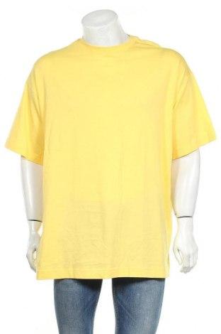Мъжка тениска Weekday, Размер XS, Цвят Жълт, 100% памук, Цена 12,16лв.