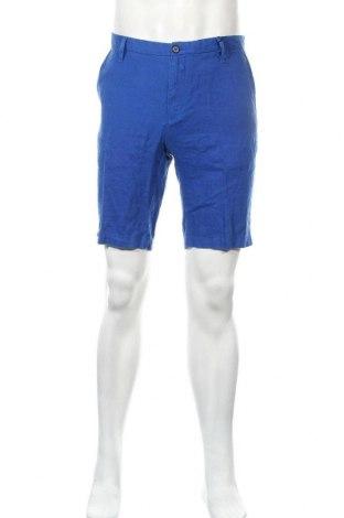 Мъжки къс панталон DKNY, Размер M, Цвят Син, Лен, Цена 64,35лв.