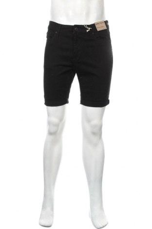 Мъжки къс панталон New Look, Размер M, Цвят Черен, 98% памук, 2% еластан, Цена 19,50лв.