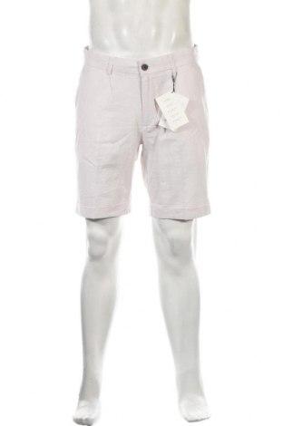 Ανδρικό κοντό παντελόνι Pier One, Μέγεθος M, Χρώμα Εκρού, 55% λινό, 45% βαμβάκι, Τιμή 15,88€