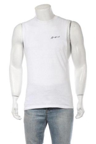 Ανδρική αμάνικη μπλούζα Boohoo, Μέγεθος S, Χρώμα Λευκό, 52% πολυεστέρας, 78% βαμβάκι, Τιμή 5,67€