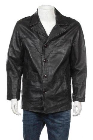 Ανδρικό δερμάτινο μπουφάν Gipsy, Μέγεθος M, Χρώμα Μαύρο, Γνήσιο δέρμα, Τιμή 13,72€