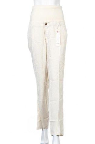 Панталон за бременни Esprit, Размер M, Цвят Бежов, 91% вискоза, 9% лен, Цена 19,20лв.