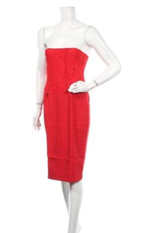 Рокля Naoko, Размер S, Цвят Червен, 60% полиестер, 40% вискоза, Цена 39,50лв.