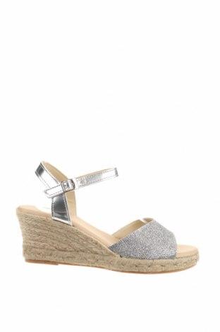Sandale, Mărime 39, Culoare Gri, Textil, Preț 130,56 Lei
