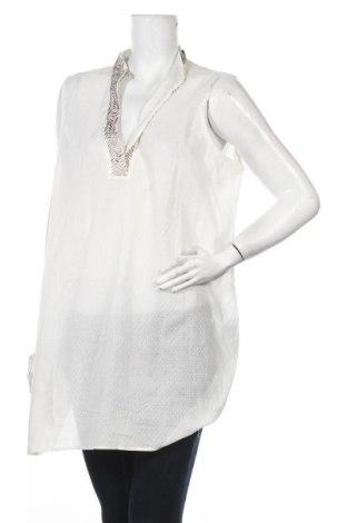 Туника Nitya, Размер XL, Цвят Бял, 100% памук, Цена 45,36лв.