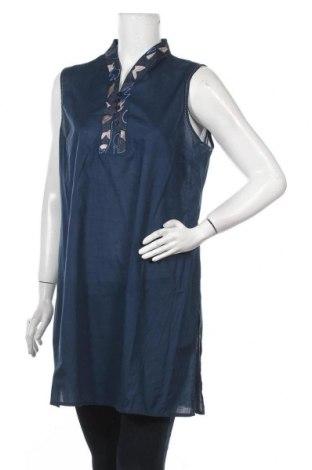 Τουνίκ Nitya, Μέγεθος L, Χρώμα Μπλέ, 100% βαμβάκι, Τιμή 19,67€