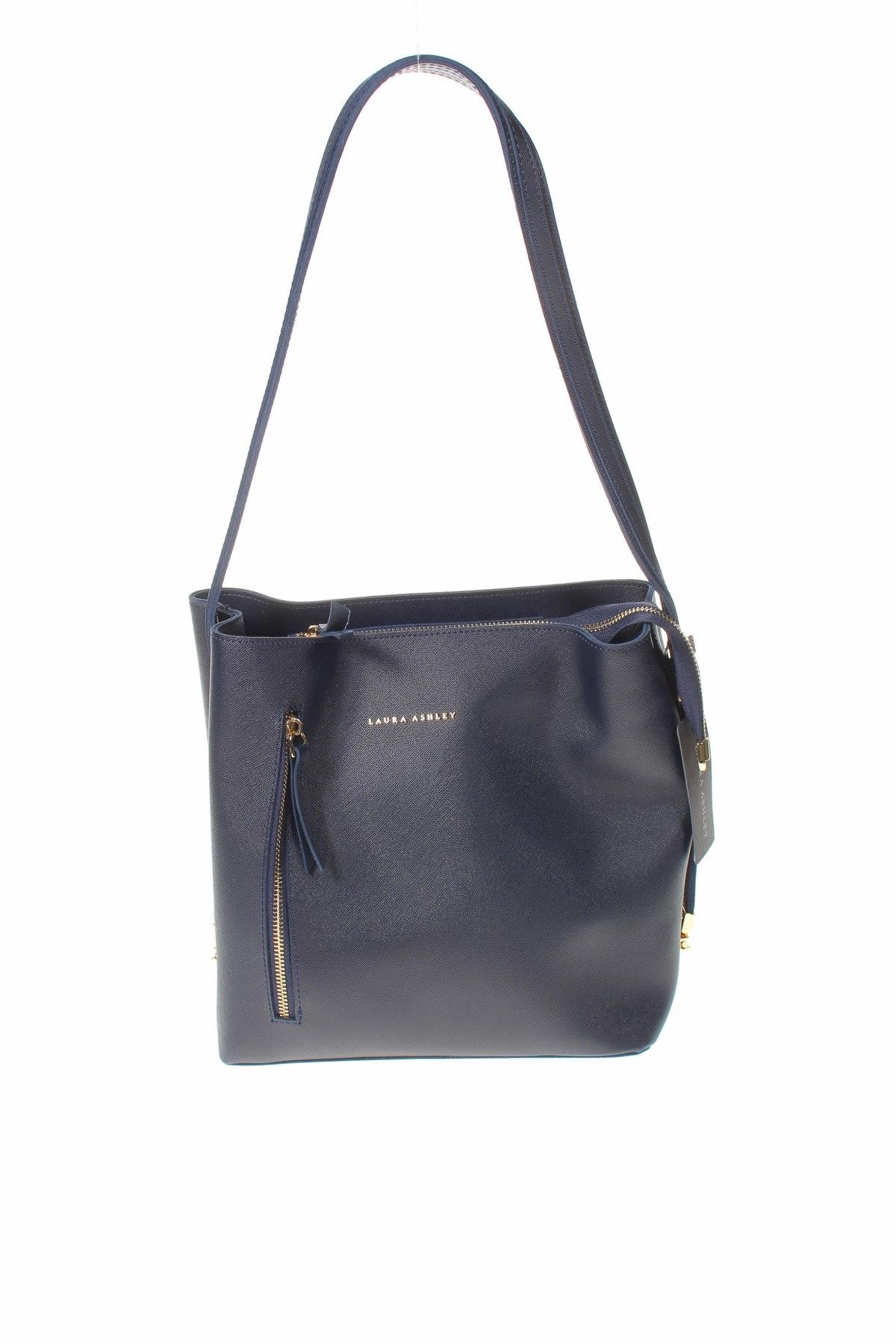 Дамска чанта Laura Ashley, Цвят Син, Еко кожа, Цена 66,75лв.