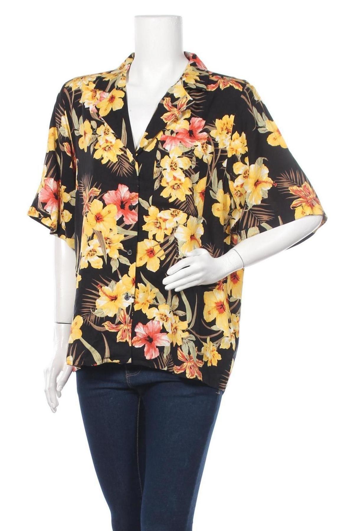 Дамска риза Gina Tricot, Размер XL, Цвят Многоцветен, Вискоза, Цена 25,30лв.