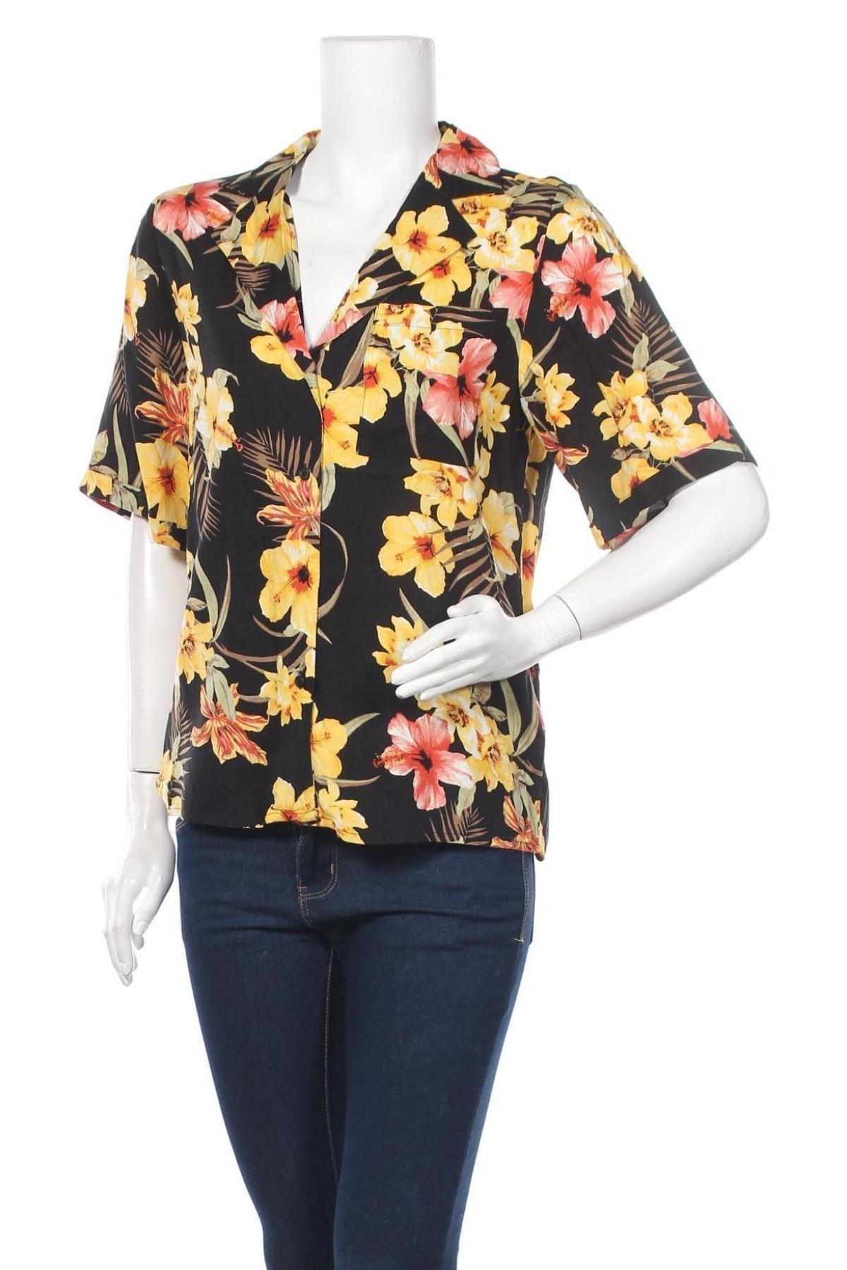 Дамска риза Gina Tricot, Размер S, Цвят Многоцветен, Вискоза, Цена 25,30лв.