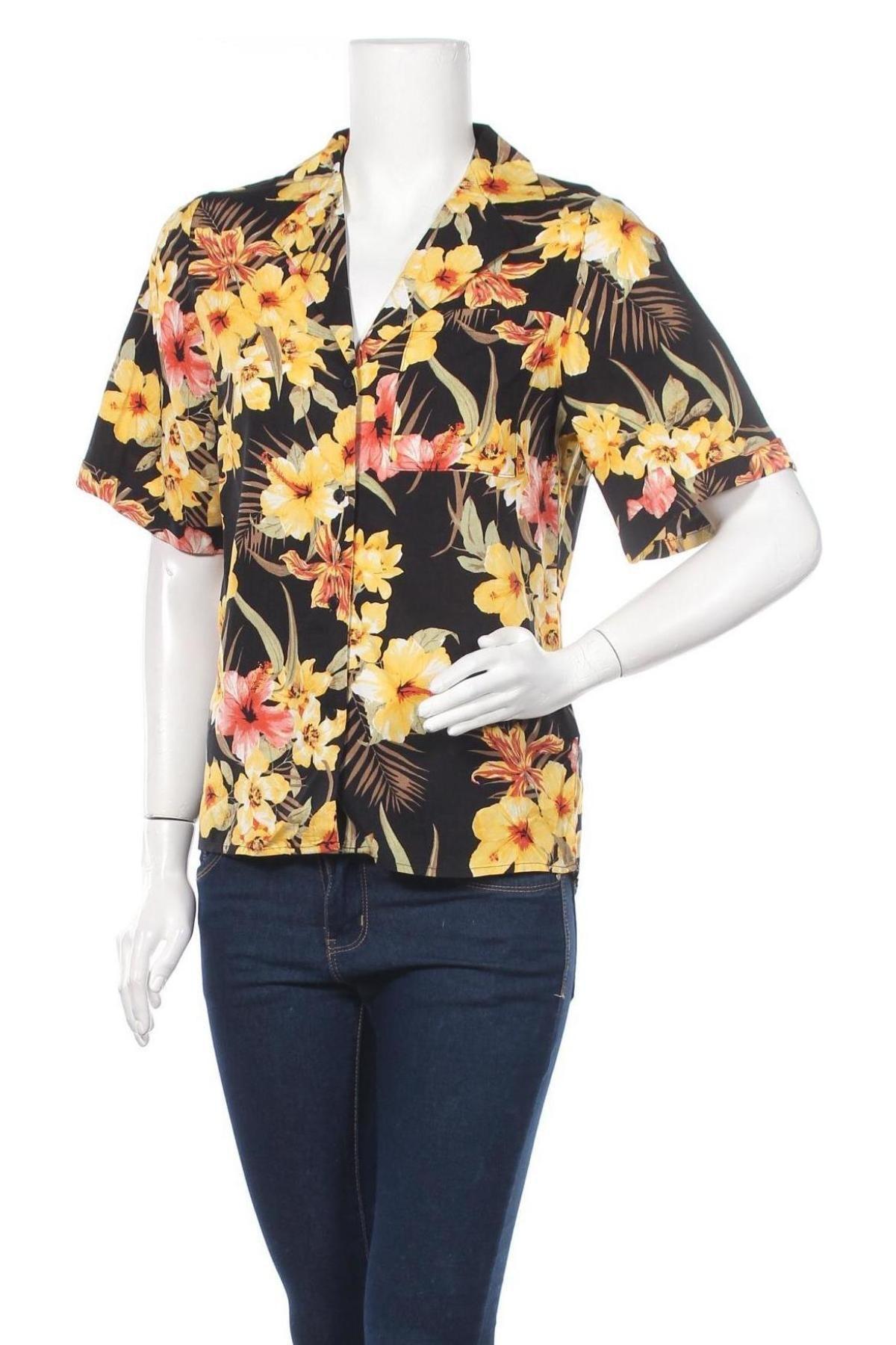 Дамска риза Gina Tricot, Размер XS, Цвят Многоцветен, Вискоза, Цена 25,30лв.