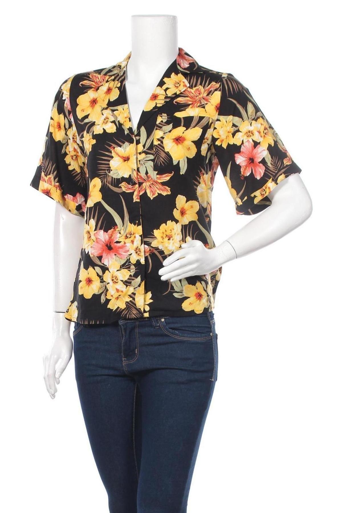 Дамска риза Gina Tricot, Размер XXS, Цвят Многоцветен, Вискоза, Цена 25,30лв.
