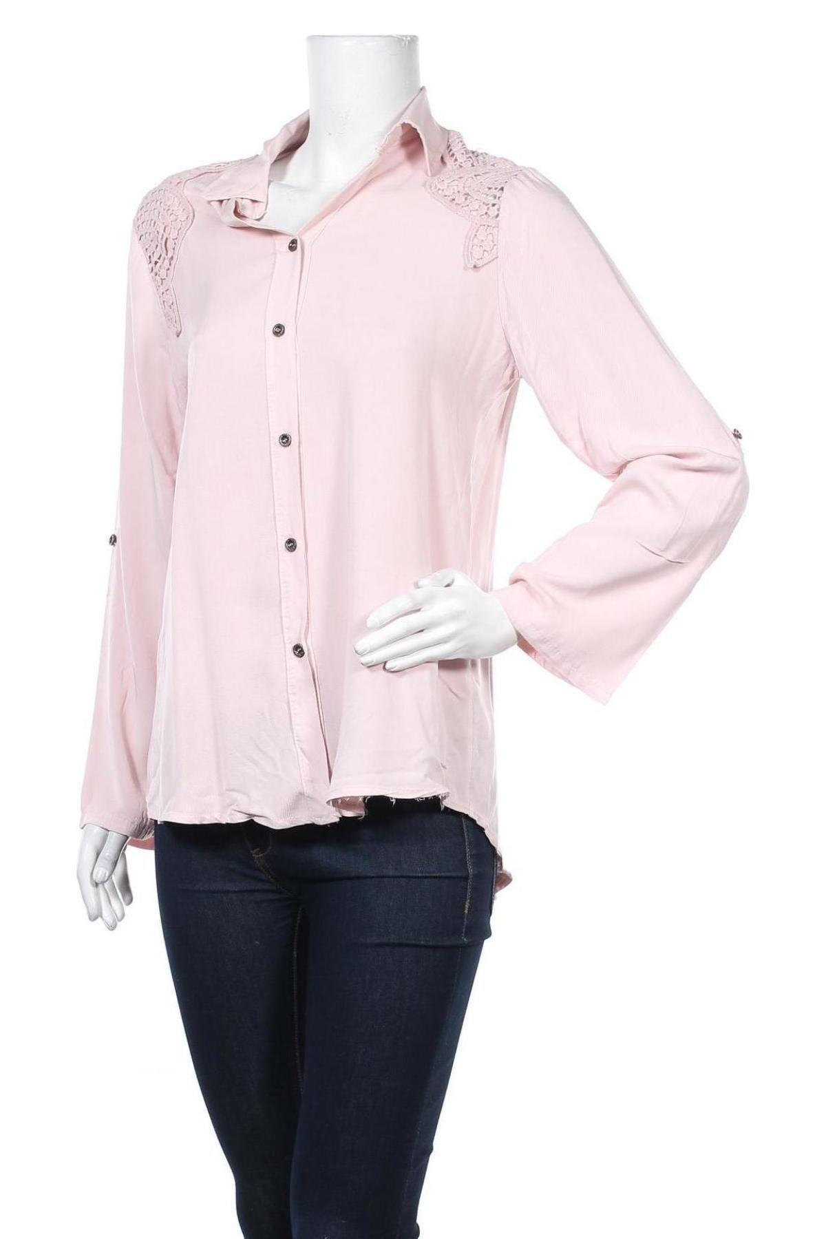 Дамска риза Mademoiselle A Paris, Размер M, Цвят Розов, Вискоза, Цена 14,26лв.