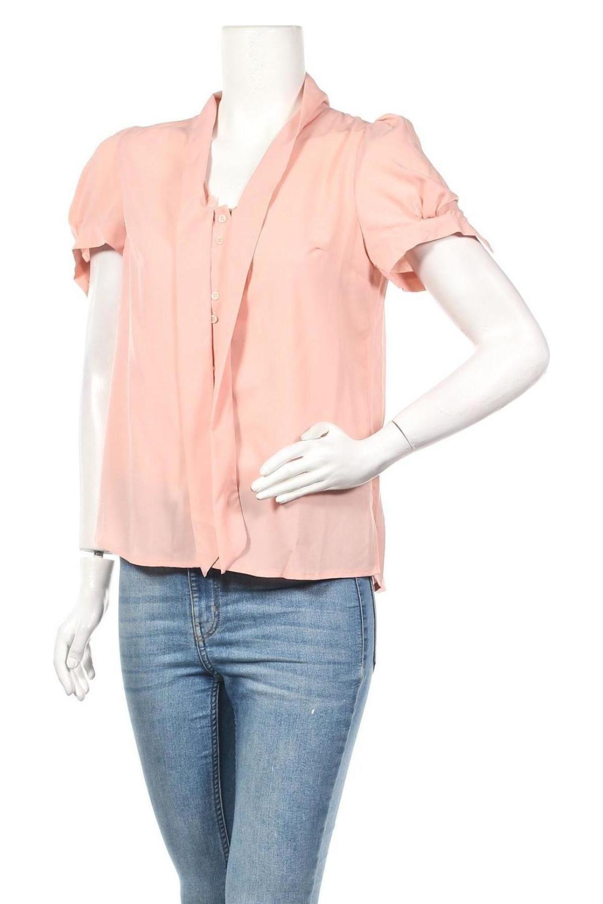 Дамска риза Nife, Размер M, Цвят Розов, 98% полиестер, 2% еластан, Цена 22,05лв.