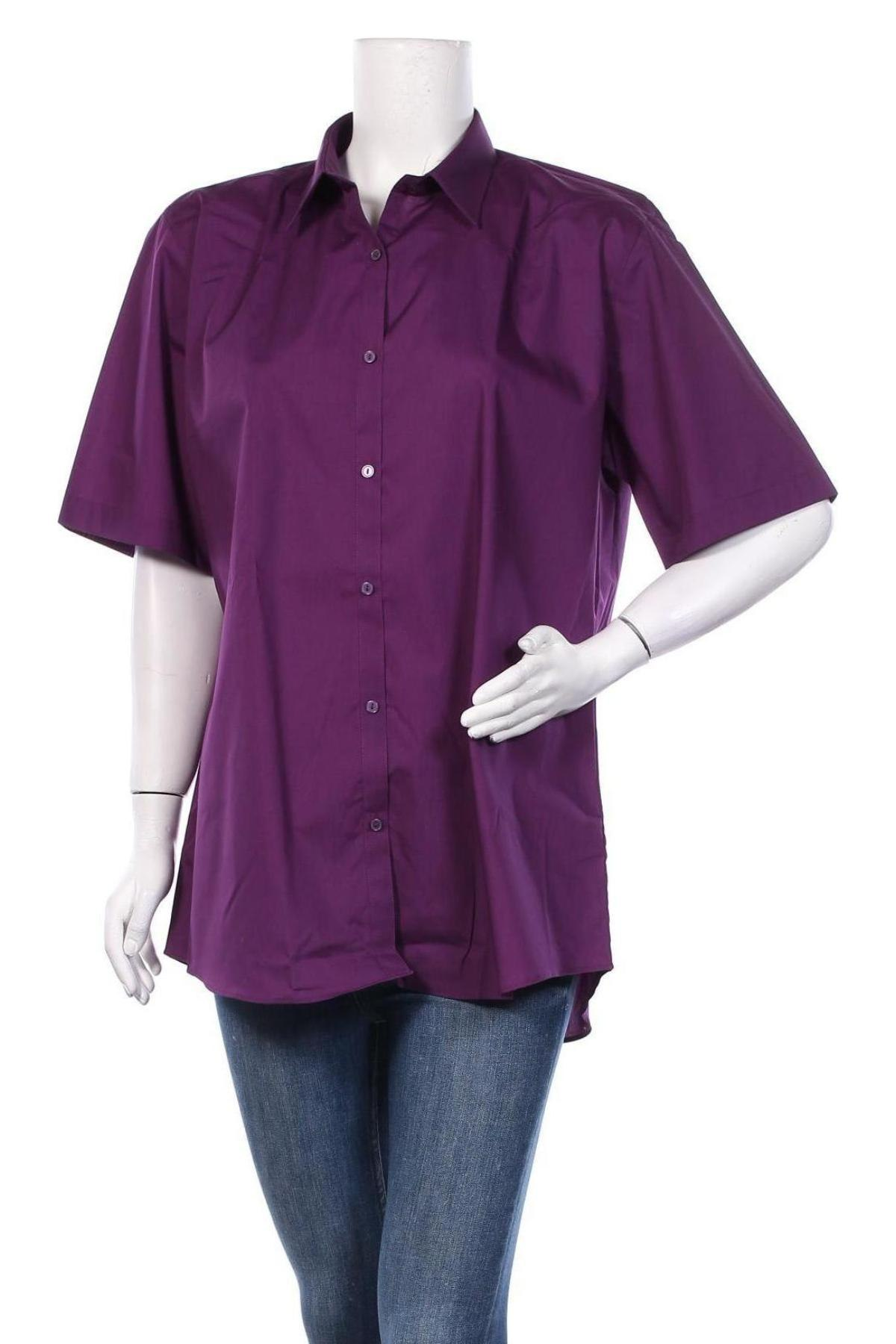 Дамска риза Trutex, Размер XL, Цвят Лилав, 65% полиестер, 35% памук, Цена 19,80лв.