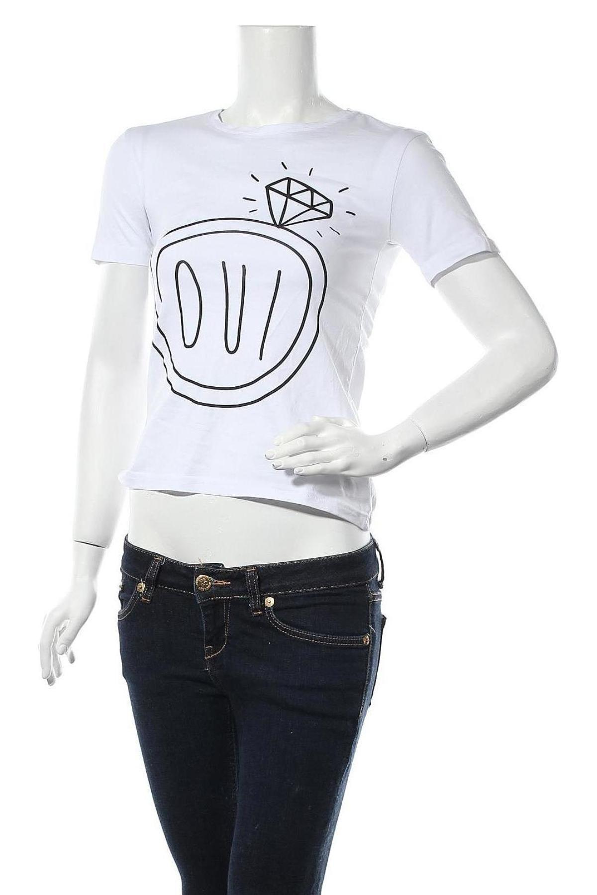 Дамска тениска Irl, Размер XS, Цвят Бял, Памук, Цена 20,40лв.