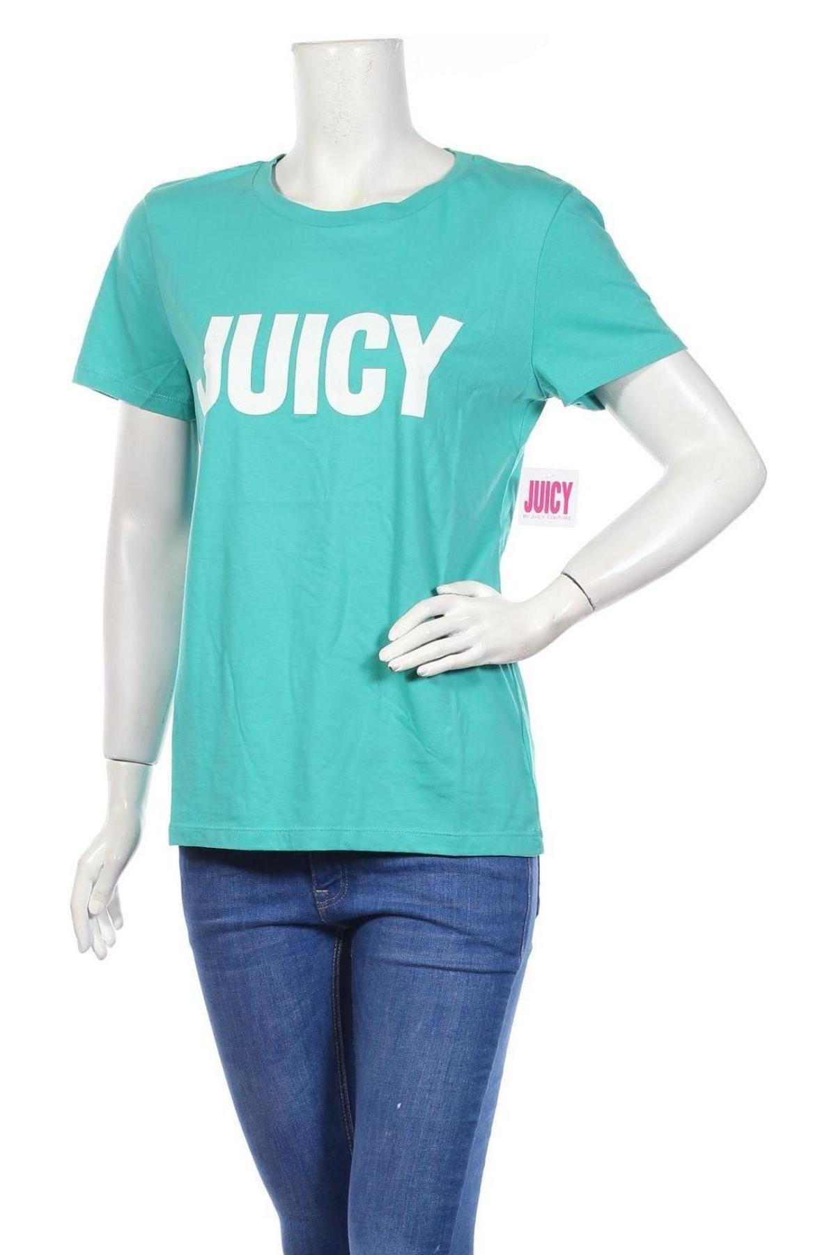 Дамска тениска Juicy Couture, Размер L, Цвят Зелен, 60% памук, 40% полиестер, Цена 37,12лв.