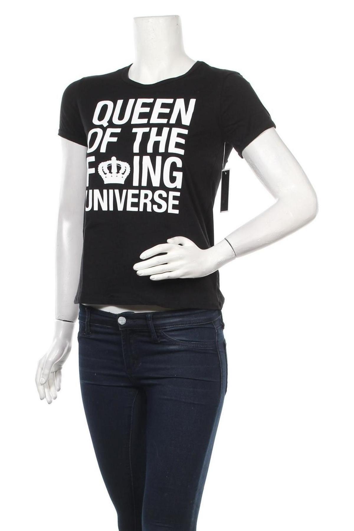 Дамска тениска Juicy Couture, Размер S, Цвят Черен, Памук, Цена 44,20лв.