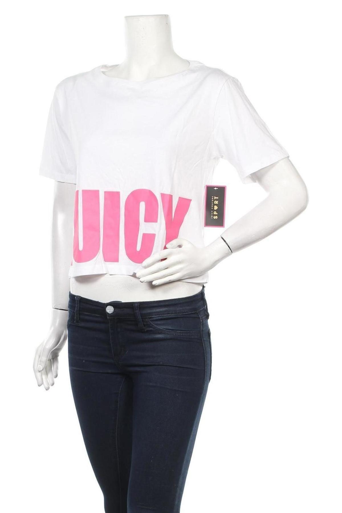 Дамска тениска Juicy Couture, Размер M, Цвят Бял, 100% памук, Цена 34,10лв.