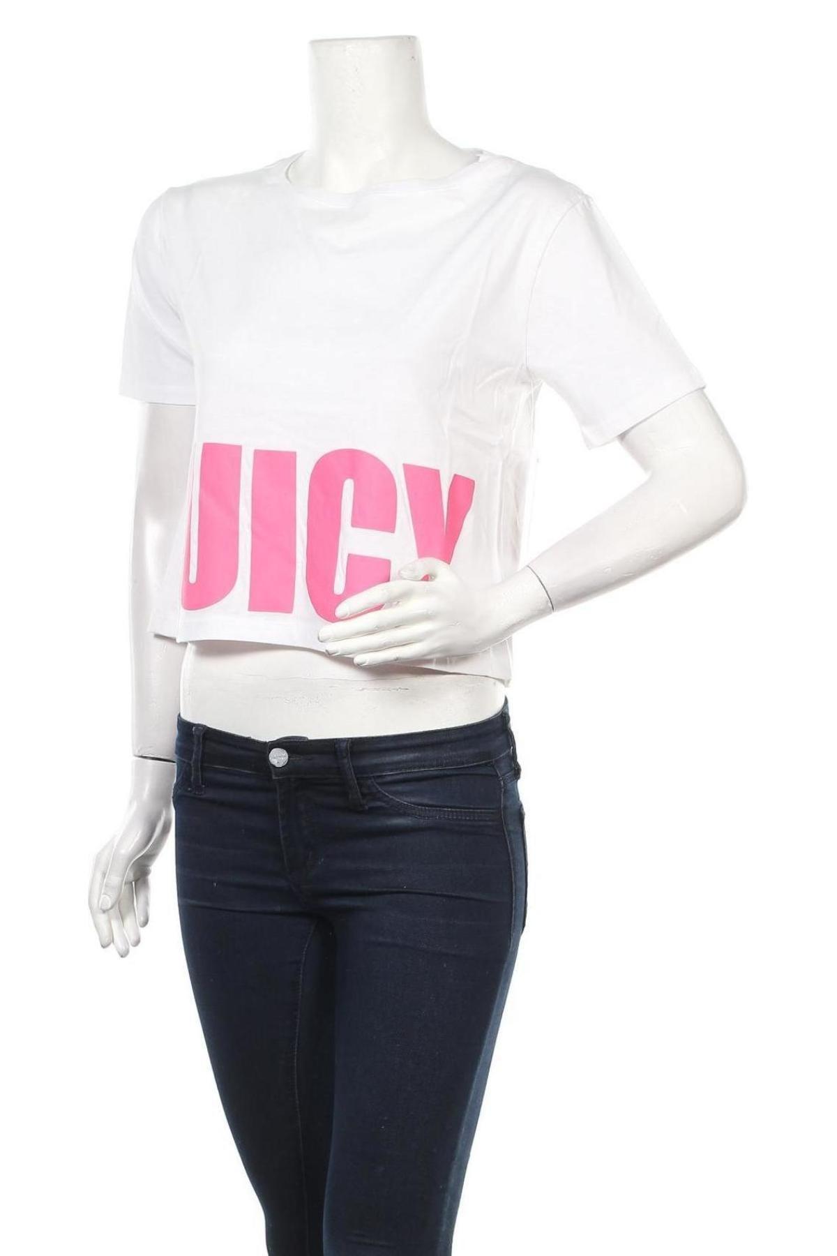Дамска тениска Juicy Couture, Размер XS, Цвят Бял, 100% памук, Цена 37,20лв.